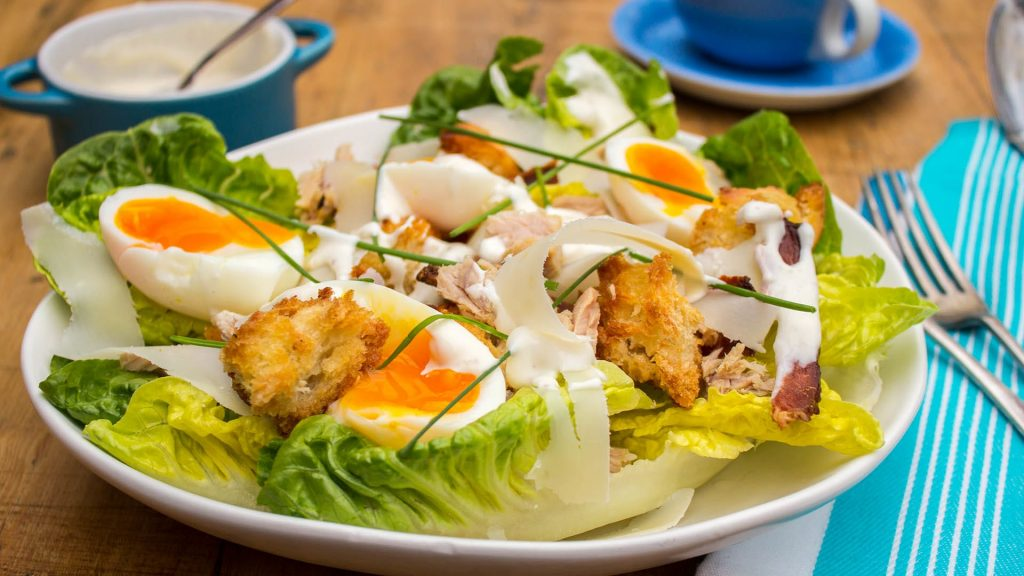 Tuna Caesar Salad a great source of Iodine