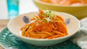 Easy salmon spaghetti