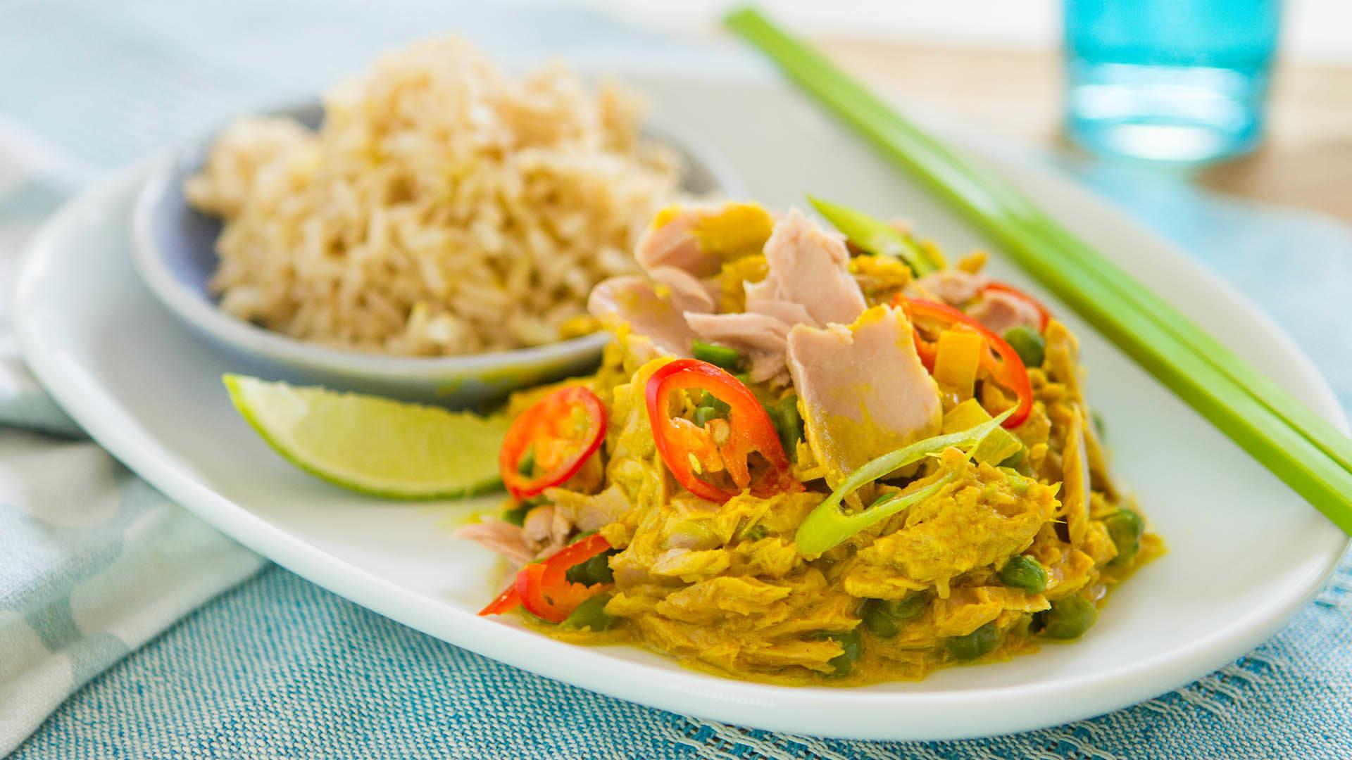 Mild tuna curry