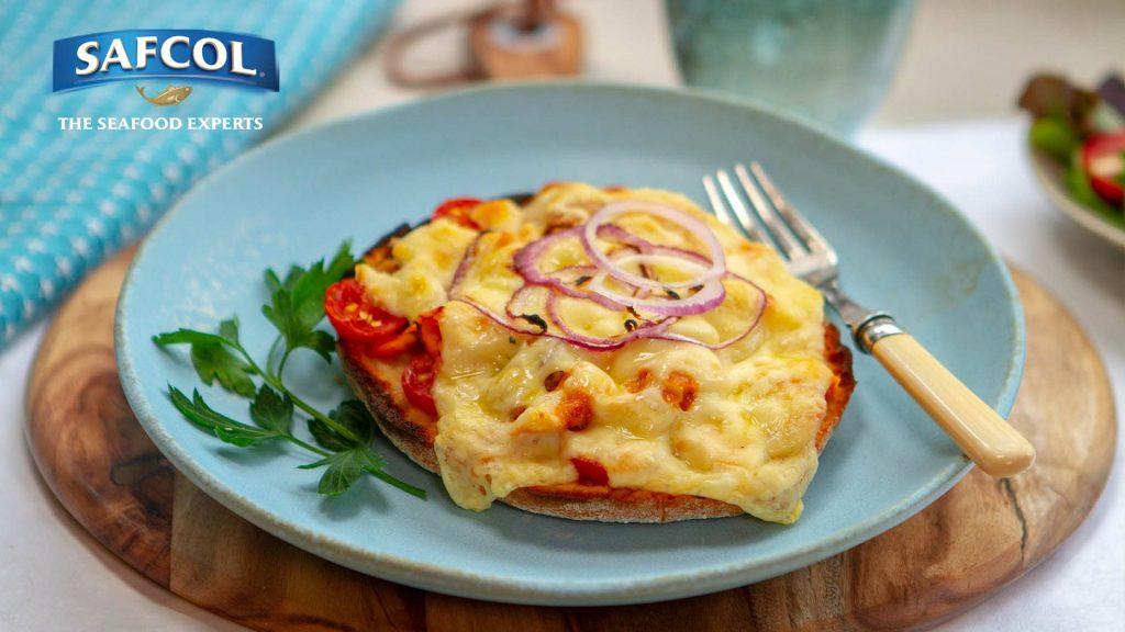 Tuna tomato red onion bruschetta melt