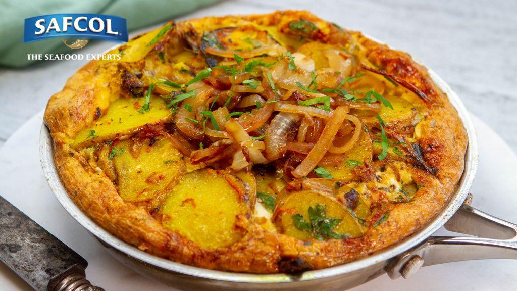 Tuna turmeric onion tortilla
