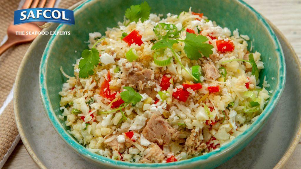 Asian style tuna cauliflower rice