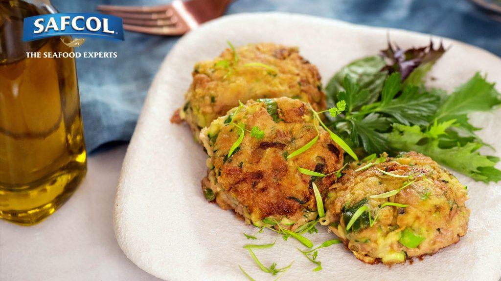 Tuna zucchini patties image