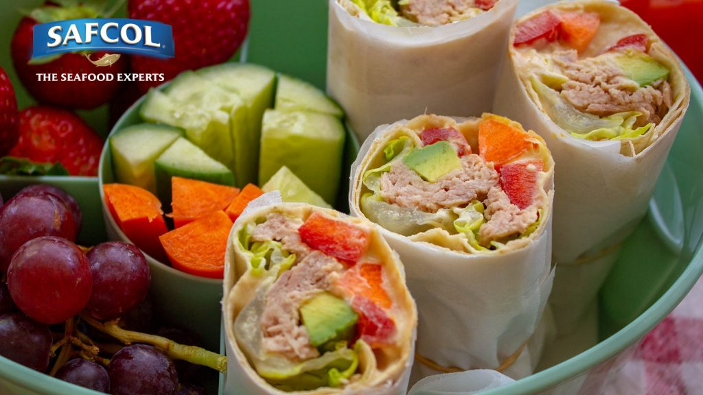 Superfood tuna salad wraps