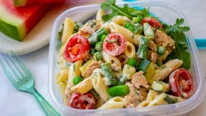 Tuna lunchbox pasta salad