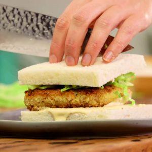Crumbed Tuna Patty Sandwiches