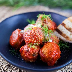 A serving of Tuna and Fennel Polpette