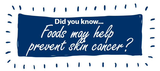 Foods may help prevent skin cancer