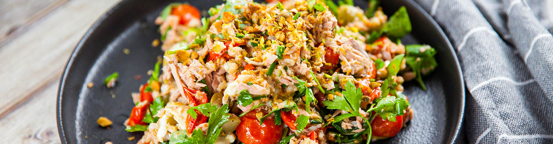 Slow Roasted Tomato, Buffalo Mozzarella Tuna Salad