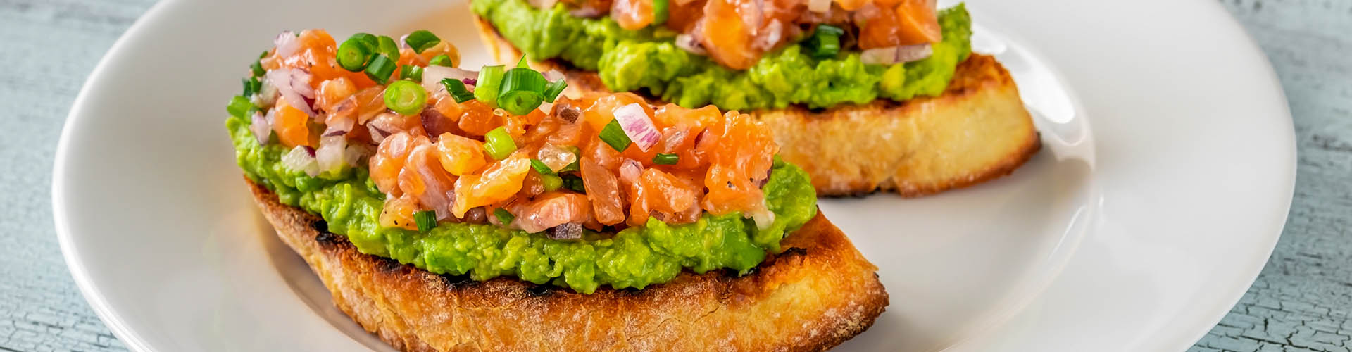 Upgrade from traditional smashed avocado on toast